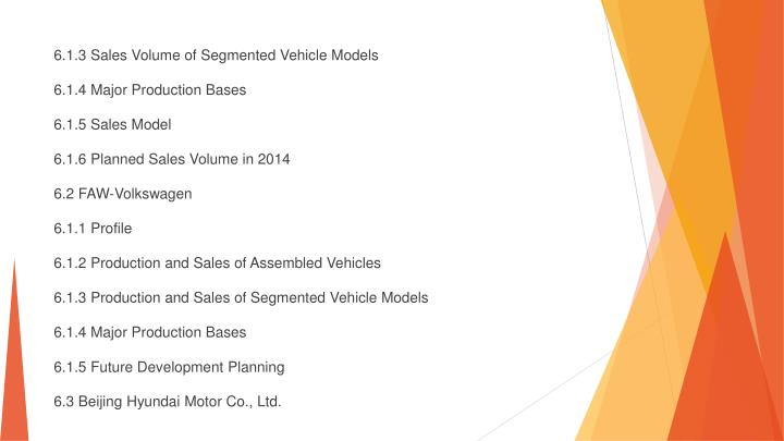 6.1.3 Sales Volume of Segmented Vehicle Models