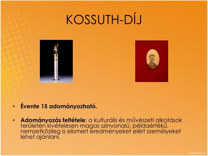 KOSSUTH-DÍJ
