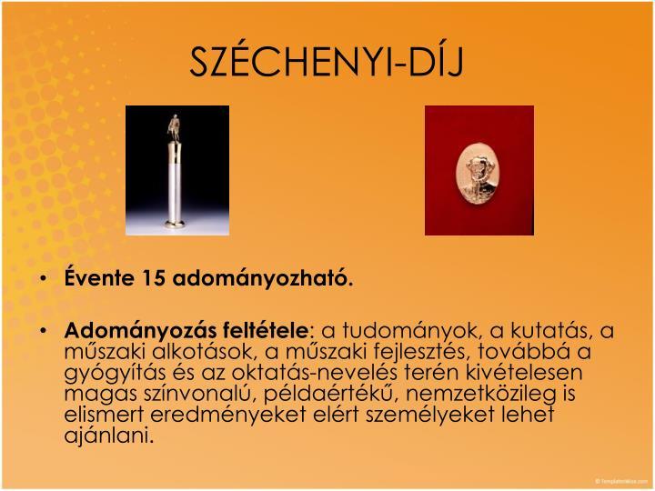 SZÉCHENYI-DÍJ