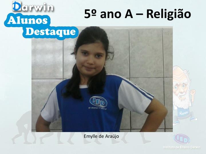 5º ano A – Religião