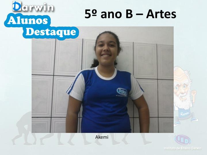 5º ano B – Artes
