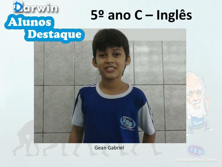 5º ano C – Inglês