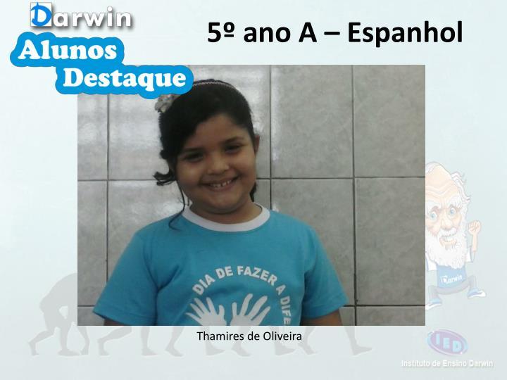 5º ano A – Espanhol