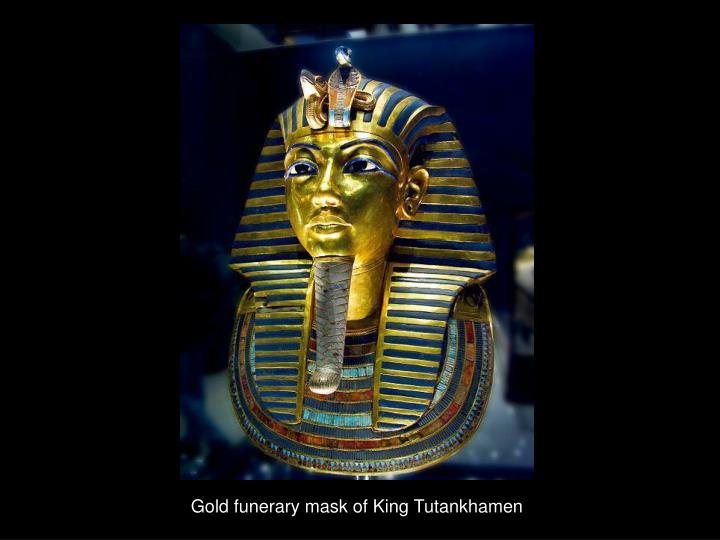 Gold funerary mask of King Tutankhamen
