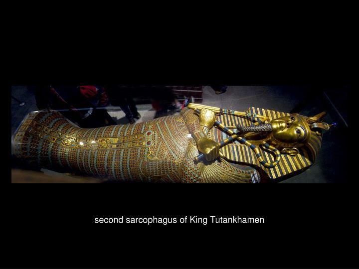 second sarcophagus of King Tutankhamen
