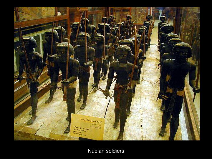 Nubian soldiers