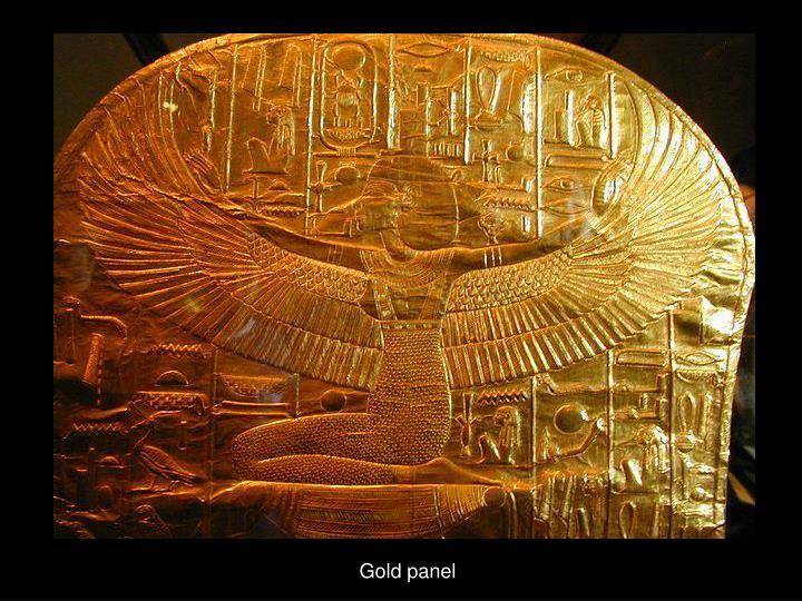 Gold panel