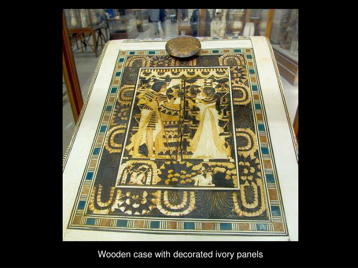 Wooden case with decorated ivory panels