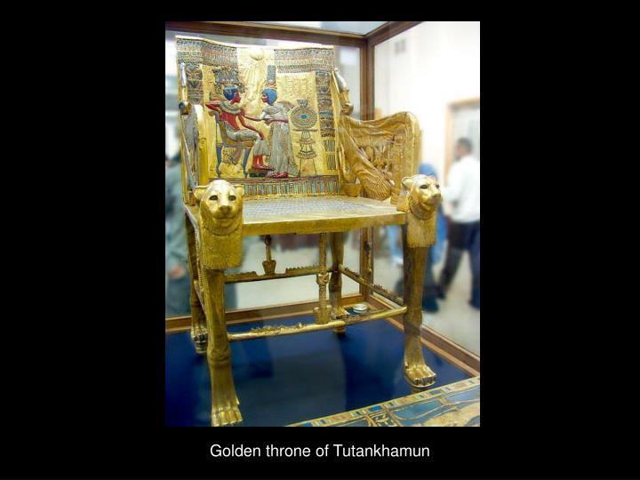 Golden throne of Tutankhamun