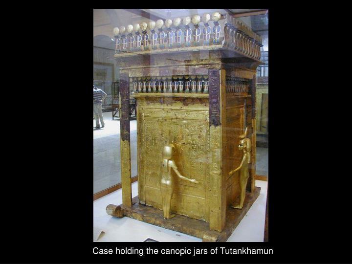 Case holding the canopic jars of Tutankhamun