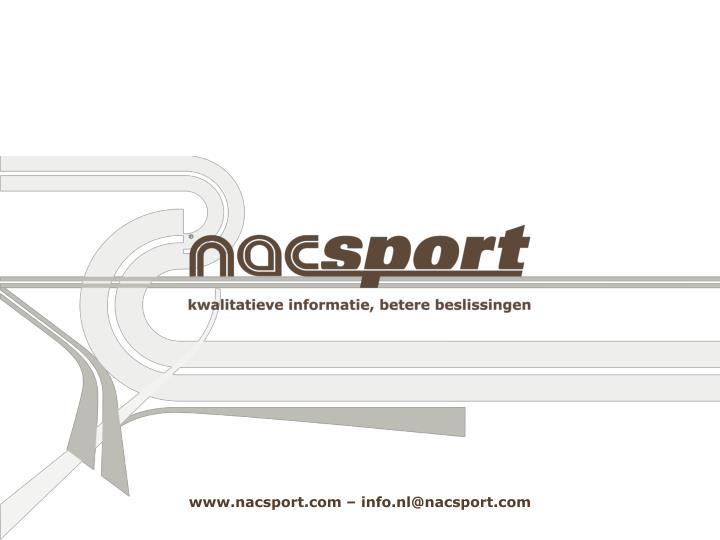 www.nacsport.com – info.nl@nacsport.com