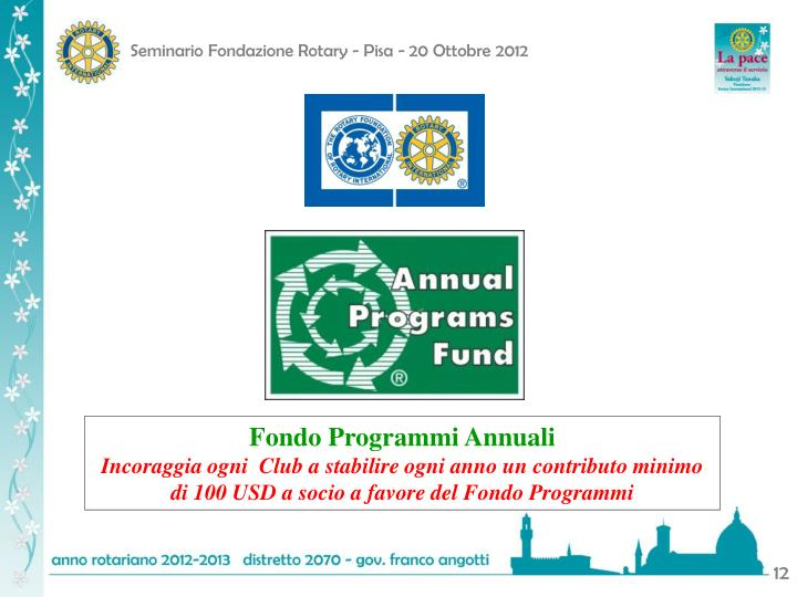 Fondo Programmi Annuali