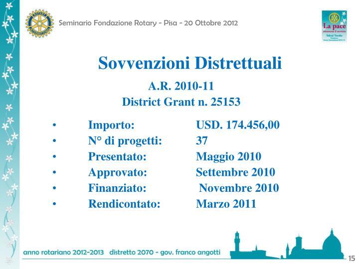 Sovvenzioni Distrettuali