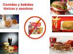 comidas y bebidas t xicas y asesinas