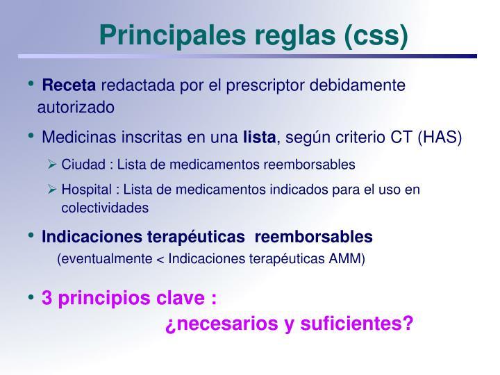 Principales reglas (css)