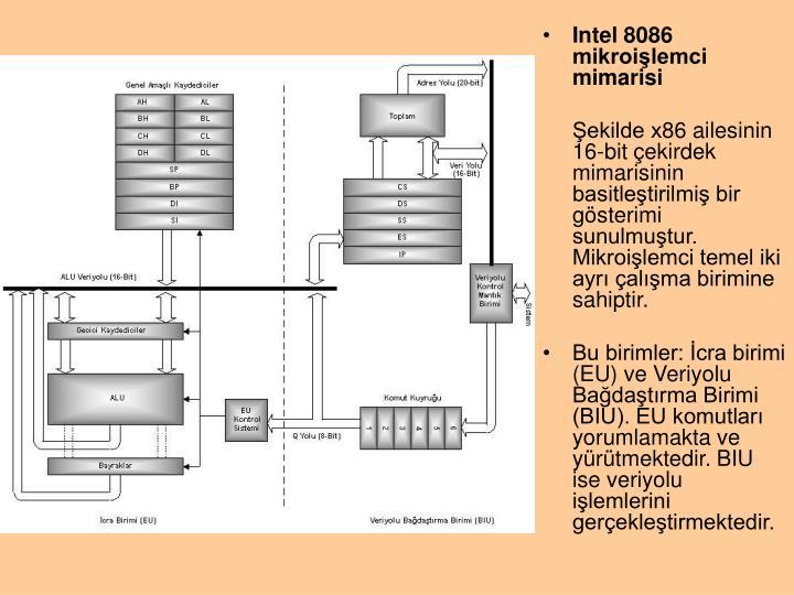 Intel 8086 mikroilemci mimarisi
