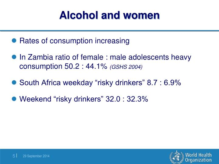 Alcohol and women