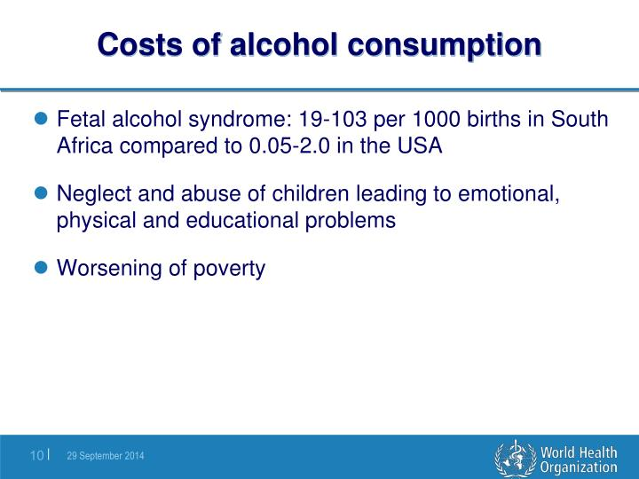 Costs of alcohol consumption