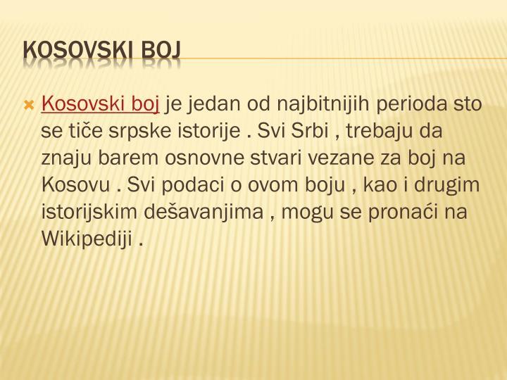 Kosovski boj