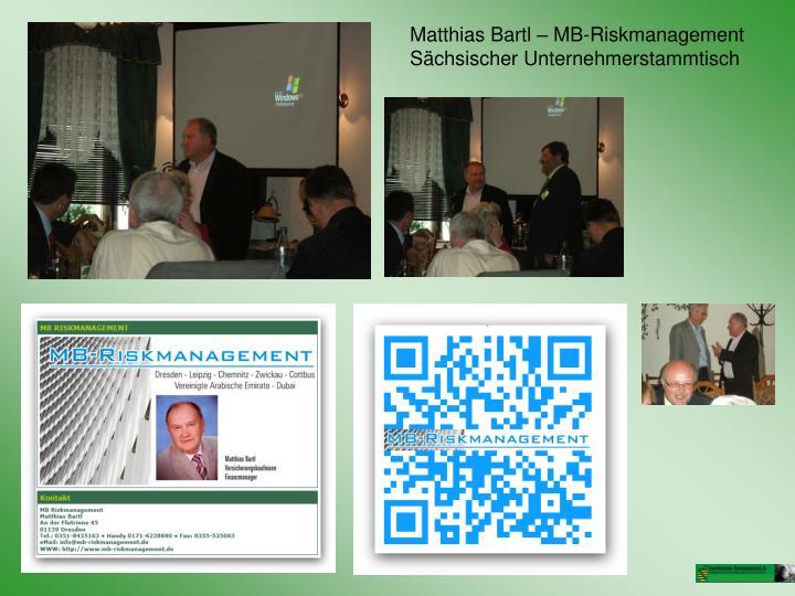 Matthias Bartl – MB-Riskmanagement