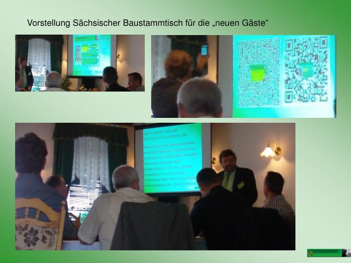 """Vorstellung Sächsischer Baustammtisch für die """"neuen Gäste"""""""