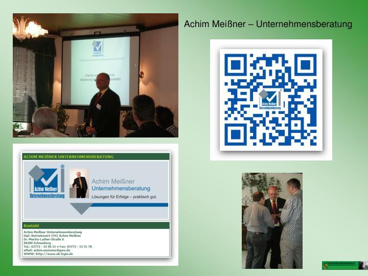 Achim Meißner – Unternehmensberatung