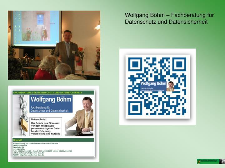 Wolfgang Böhm – Fachberatung für