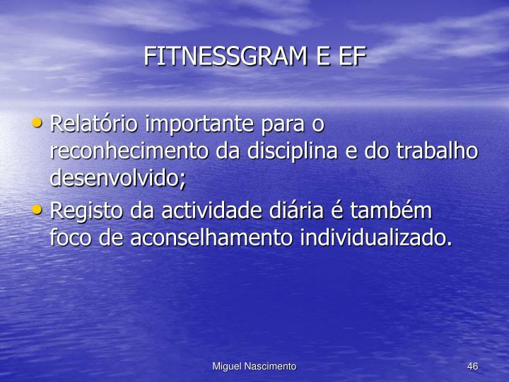 FITNESSGRAM E EF