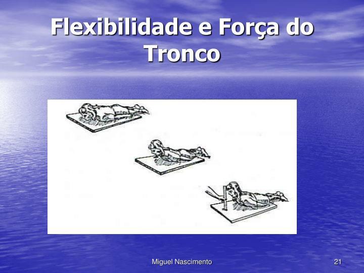 Flexibilidade e Força do Tronco