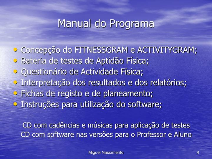 Manual do Programa
