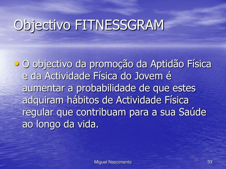 Objectivo FITNESSGRAM