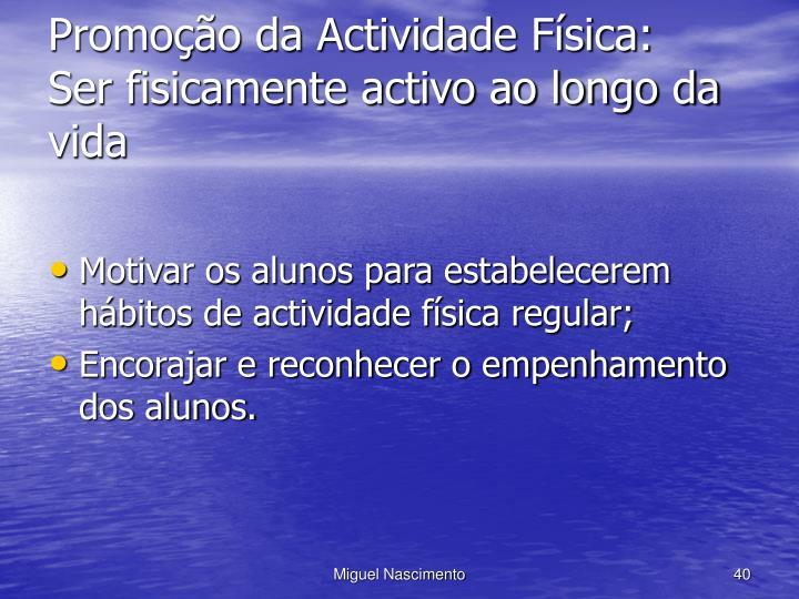 Promoção da Actividade Física: