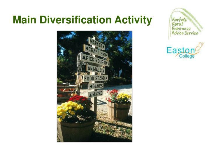 Main Diversification Activity
