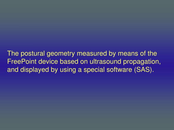 The postural geometry measured by means of the