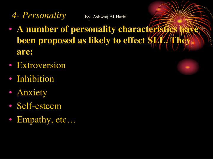 4- Personality