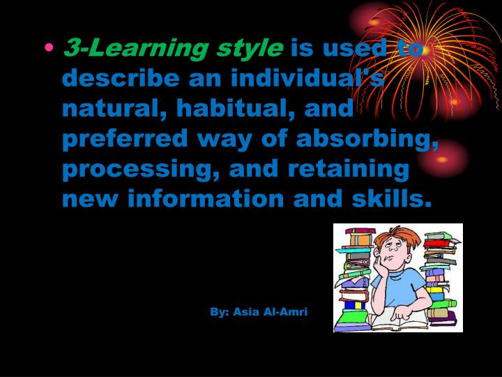 3-Learning style