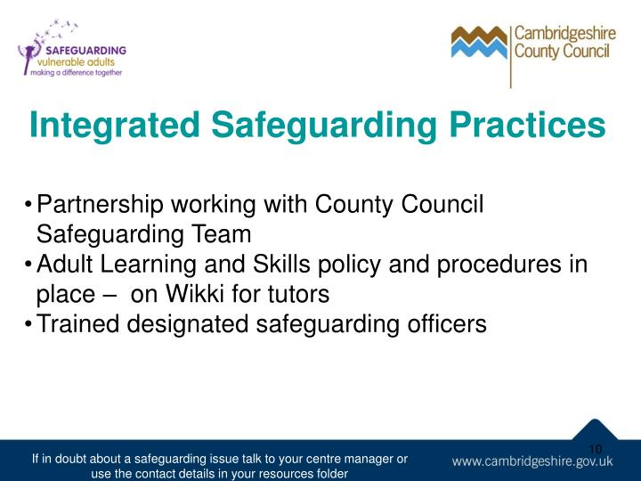 Integrated Safeguarding Practices