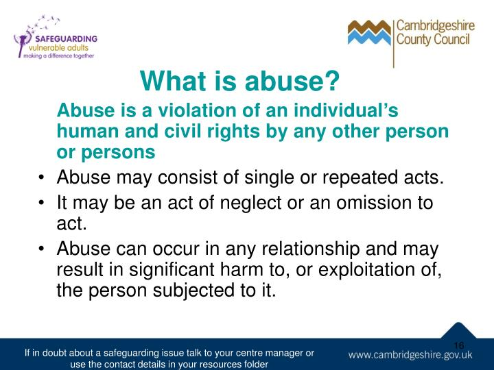 What is abuse?