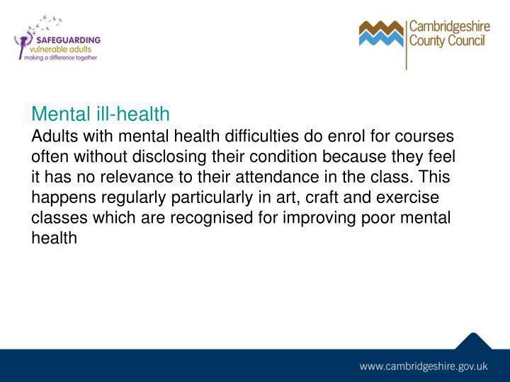 Mental ill-health