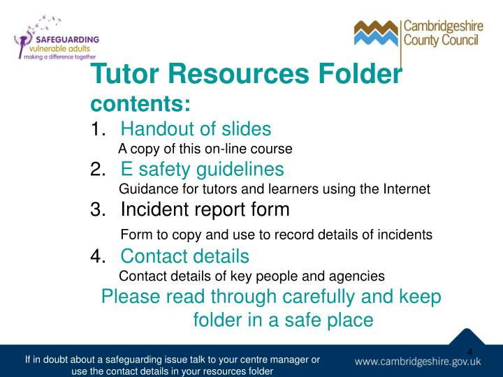 Tutor Resources Folder