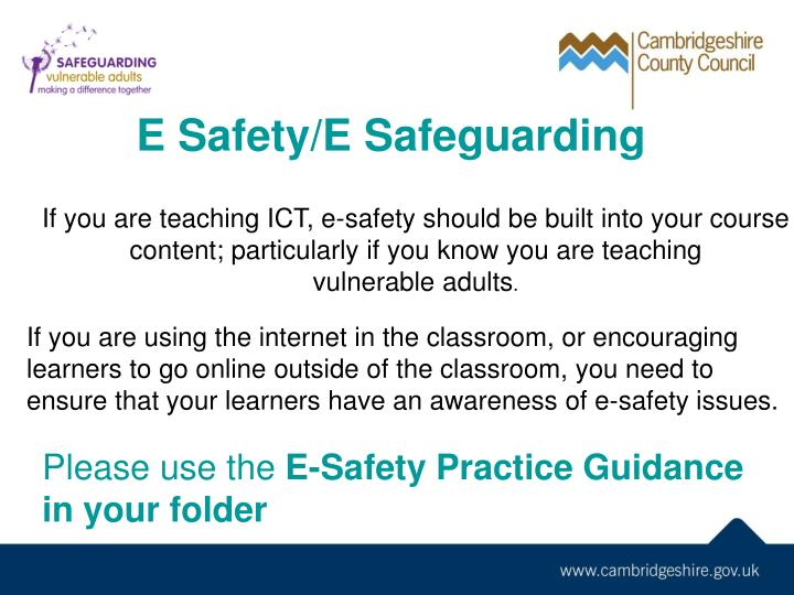 E Safety/E Safeguarding