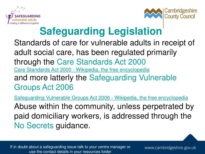 Safeguarding Legislation