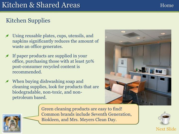 Kitchen & Shared Areas