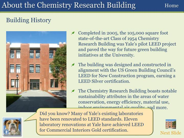 About the Chemistry Research Building