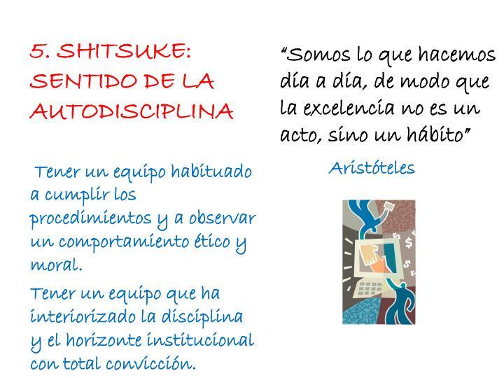 5. SHITSUKE: