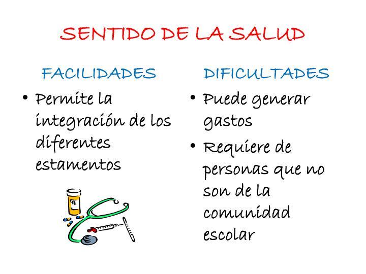 SENTIDO DE LA SALUD