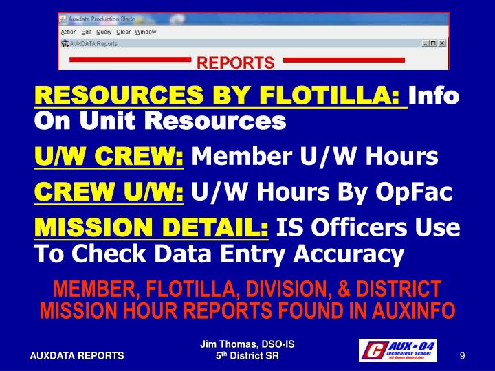 RESOURCES BY FLOTILLA: