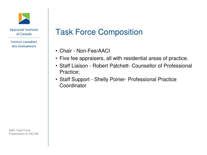 Task Force Composition