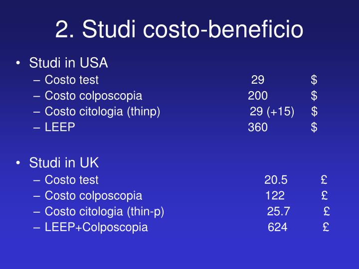 2. Studi costo-beneficio