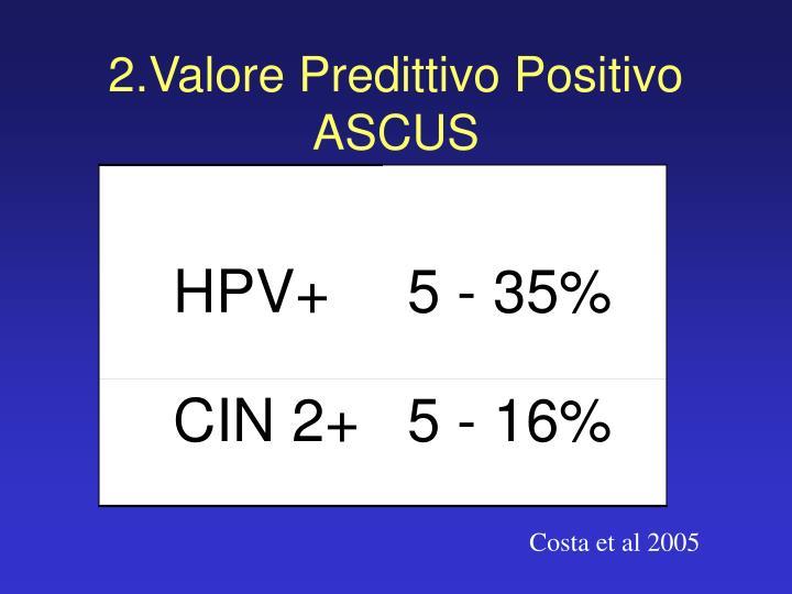 2.Valore Predittivo Positivo ASCUS